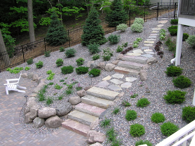 Stone Walls Steps Patios Fireplaces Traditional Landscape Minneapoli