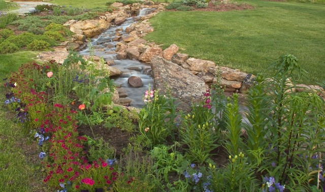 Stream and garden rustic landscape other by insite for Insite landscape architects