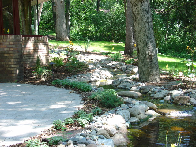 Stream and pond for Landscaping rocks wake forest nc