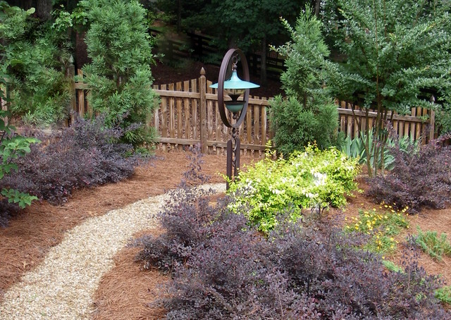 Stroll this path thru the garden to fill the beautiful bird feeder