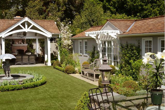 Stucco Tudor Cottage Craftsman Landscape San