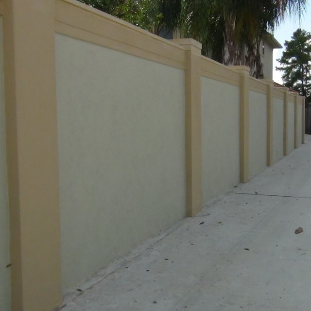 Stucco walls mediterranean landscape houston by Exterior wall plaster design