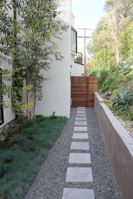 Landscaping a narrow walkway on Side Yard Path Ideas id=67297
