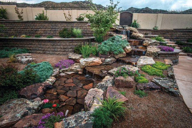 Su casa autumn contemporary landscape albuquerque for Landscaping rocks albuquerque