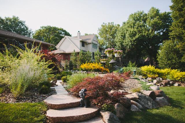 Suburban Garden Eclectic Landscape Omaha By Sun Valley Landscaping