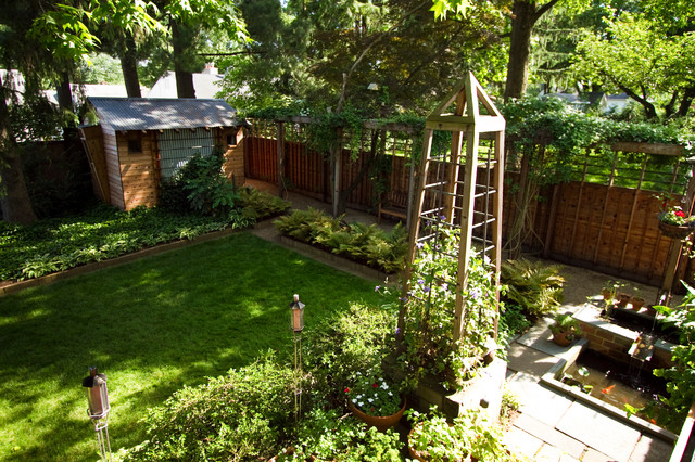 Suburban Backyard Landscape Design : Suburban Oasis  Contemporary  Landscape  philadelphia  by