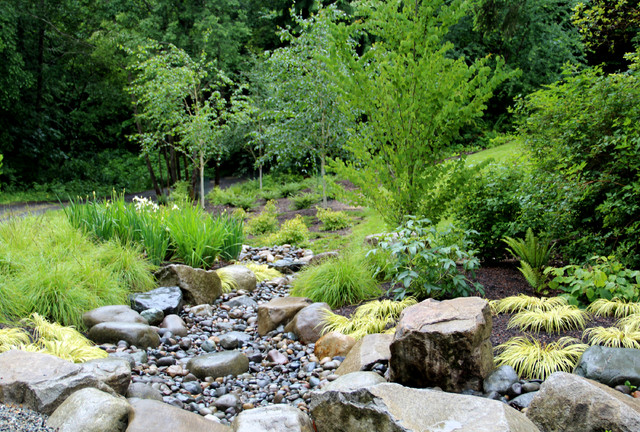 Suhr brown contemporary landscape seattle by bliss for Dry garden designs