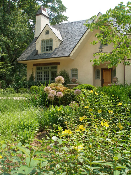 French country cottage cream colored stucco on cottage sciox Choice Image
