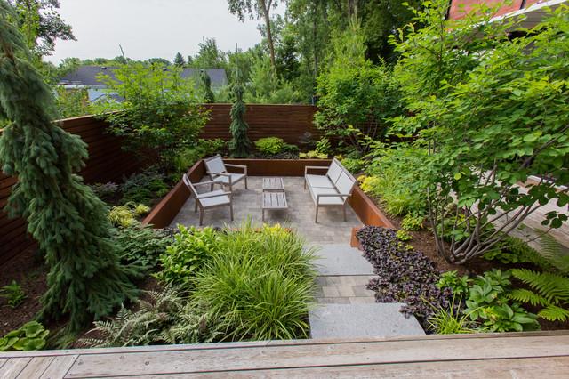 Sunken Courtyard Modern Landscape Minneapolis By