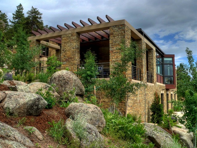 Sunshine Canyon house contemporary-exterior