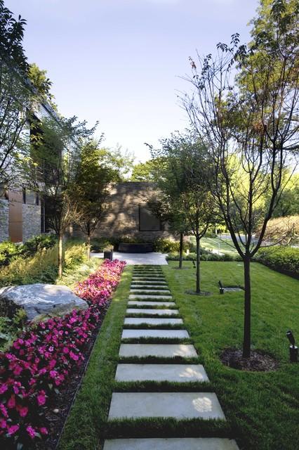 Sustainable Long Island Residence transitional-landscape