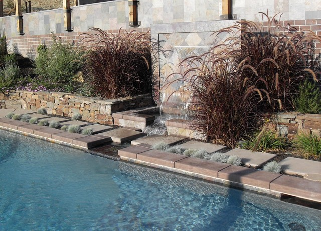 Swimming Pool Fountain Modern Pool other metro by