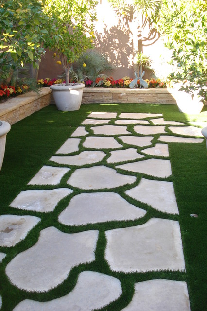 Synthetic GrassGridsPaversStepping Stones