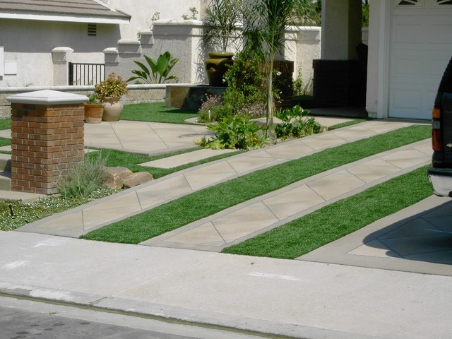 Synthetic grass grids pavers stepping stones for Landscaping rocks yakima
