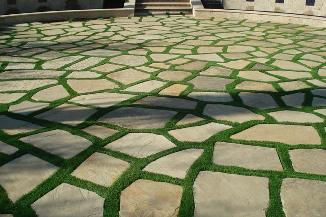 Exceptionnel Synthetic Grass Grids/Pavers/Stepping Stones Mediterranean Landscape