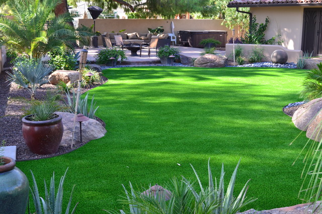 Synthetic turf lawn - Tropical - Landscape - Phoenix - by ... on Turf Yard Ideas id=92320