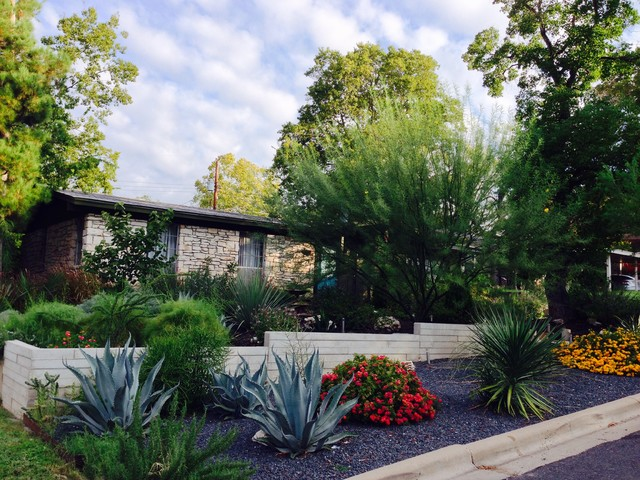 Syracuse Remodel Front Yard Xeriscaping Modern