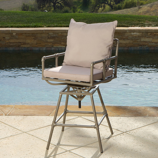 Tallahassee Pipe Outdoor Bar Stool Modern Landscape  : modern landscape from www.houzz.com size 640 x 640 jpeg 151kB