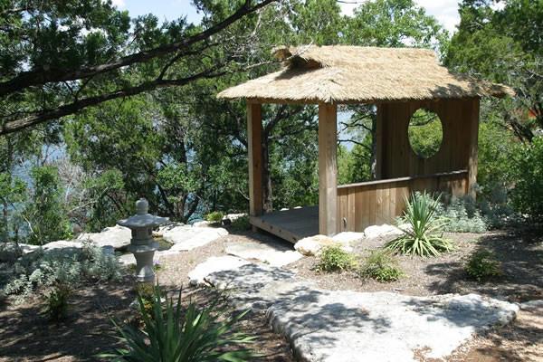 Tea house retreat asian-landscape
