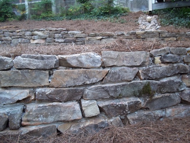 Fieldstone Walls Landscaping : Tennessee fieldstone stack wall detail traditional