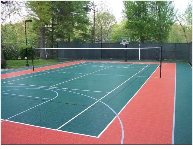How To Make Tennis Court In Backyard : Tennis Court Resurface  Traditional  Landscape  st louis  by Sport