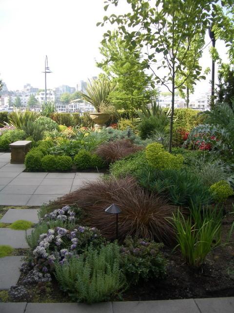 Terrace seaside contemporary landscape vancouver for Seaside garden designs
