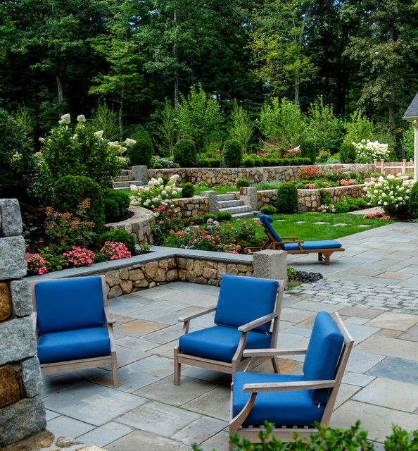 Terraced Dover Haven traditional-landscape