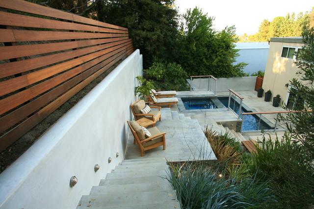Terraced Hillside Contemporary contemporary-landscape