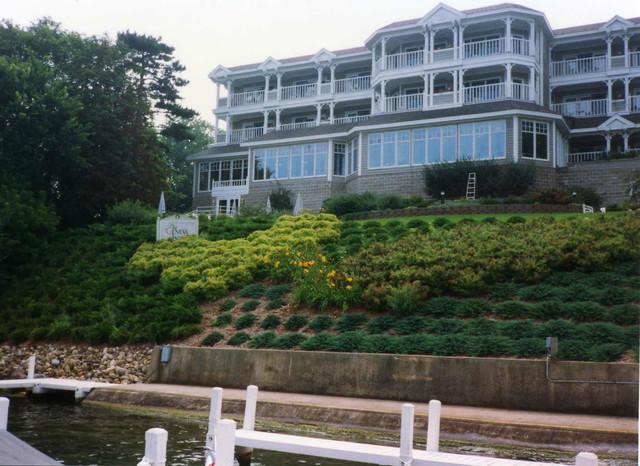 Terraced Lakefront Landscape Ideas Lake Geneva Wisconsin