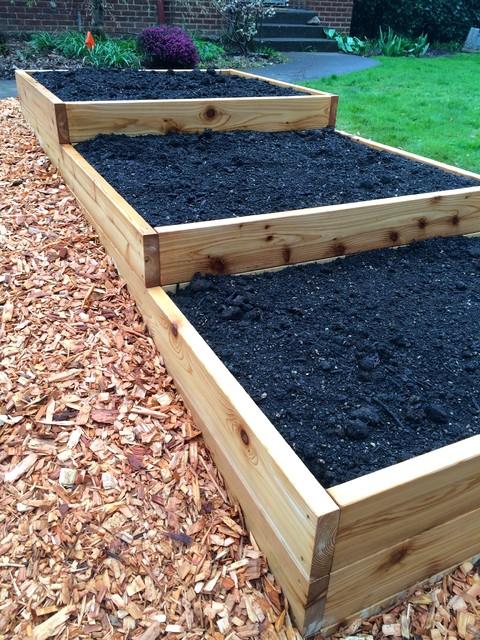 Terraced raised garden bed landscape portland by portland edible