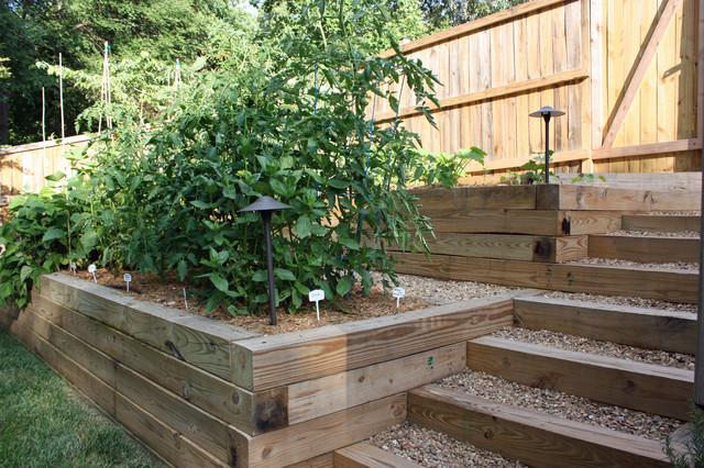 Terraced Vegetable Garden Traditional Landscape Atlanta By