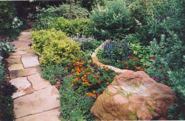 Texas Butterfly Garden, Organic Xeriscaping. Traditional Landscape