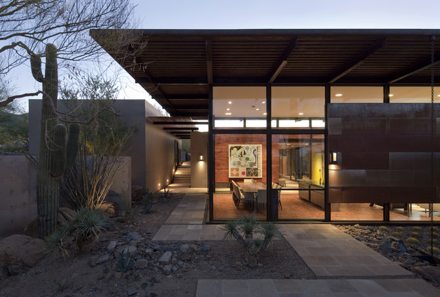 The Brown Residence southwestern-exterior