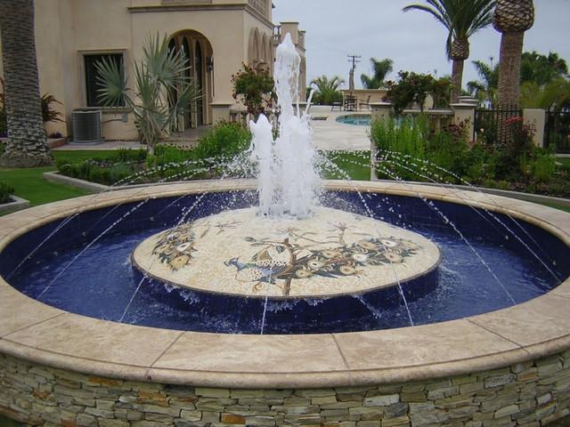 The Domed Fountain Contemporary Landscape Los