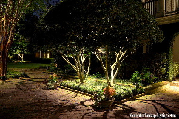 The governor thomas bennett house traditional landscape moonlighting landscape lighting systems mozeypictures Images