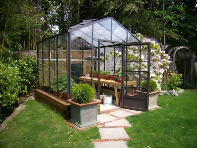 The Legacy 8x8 Greenhouse contemporary greenhouses
