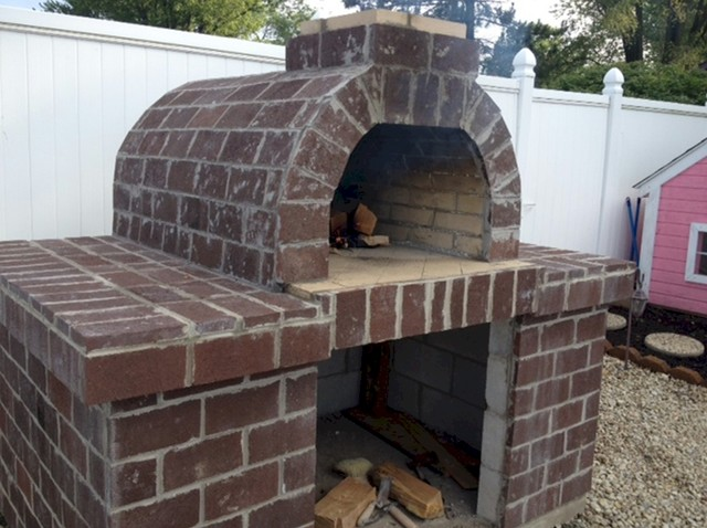 The smith wood fired pizza oven in ohio go buckeyes - Outdoor kitchen pizza oven design ...