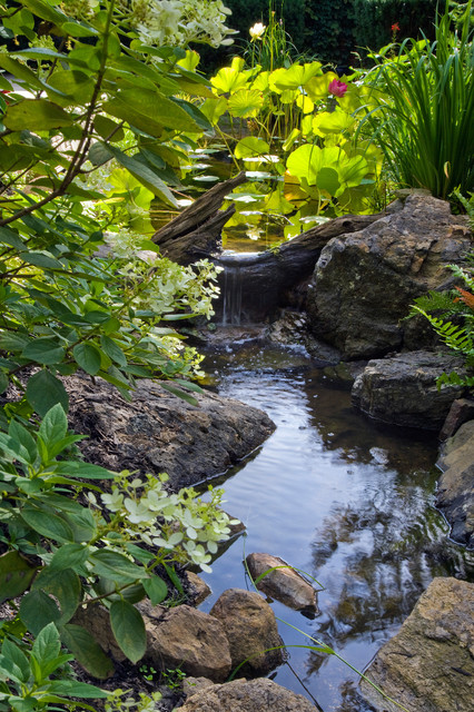 The waterfall garden tropical-landscape