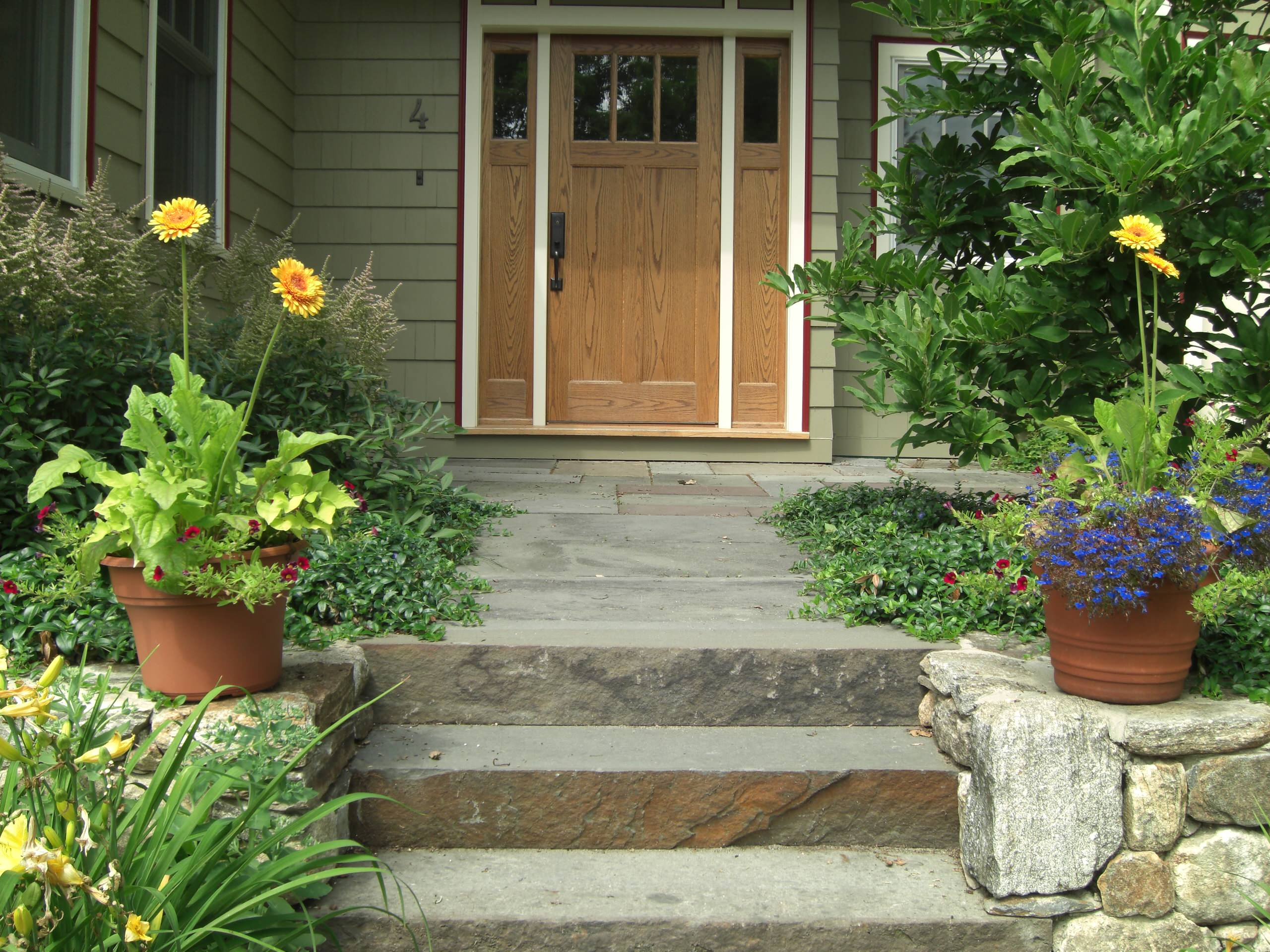 This is the home entrance the owners use every day.
