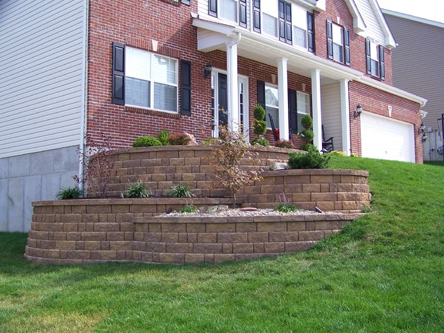 Tiered Landscape Walls on Tiered Yard Landscaping id=95729