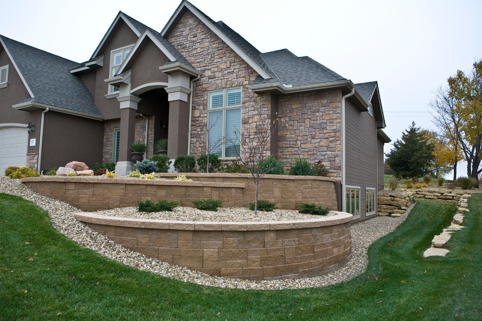 Tiered Retaining Walls - Traditional - Landscape - Other ... on Tiered Yard Landscaping id=93882