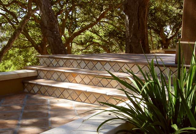 Tile Stairs mediterranean-landscape