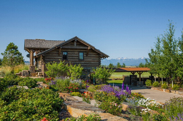 Landscaping Pictures For Log Homes : Timber frames rustic landscape other metro by