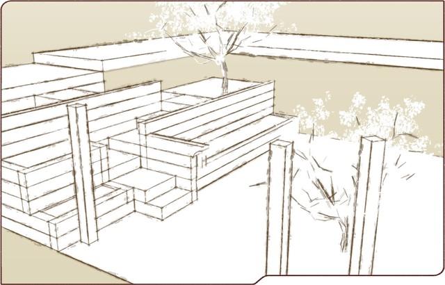 Timber Terrace Hidden Steps Traditional Landscape