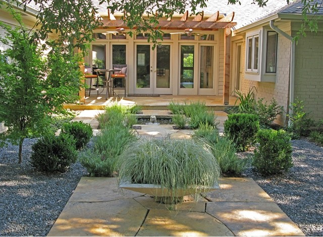 Tiny courtyard contemporary landscape cleveland by for Houzz landscape architects
