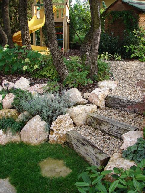 """Tiny Oak Forest Garden"" transitional-landscape"