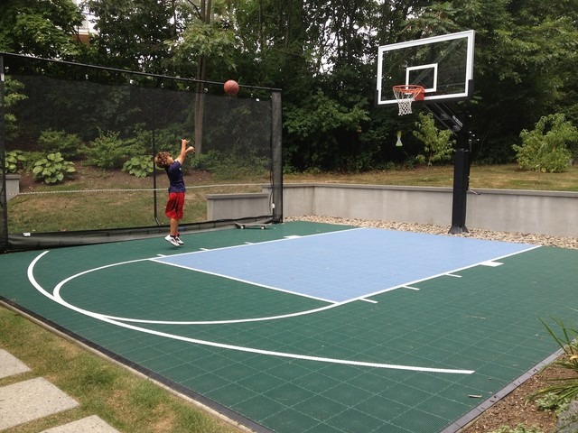 Tony M S Pro Dunk Platinum Basketball System On A 20x20 In Kittery Me Traditional
