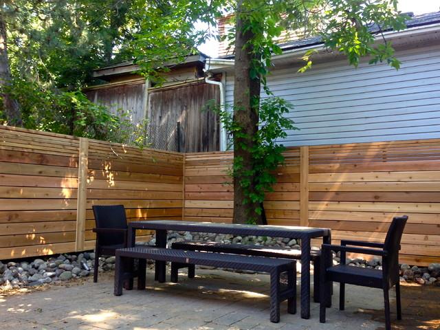 Toronto Beaches Cedar Fence modern-landscape