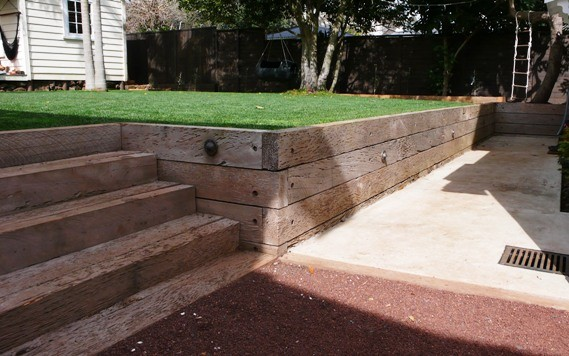 Totora Retaining And Steps Contemporary Landscape