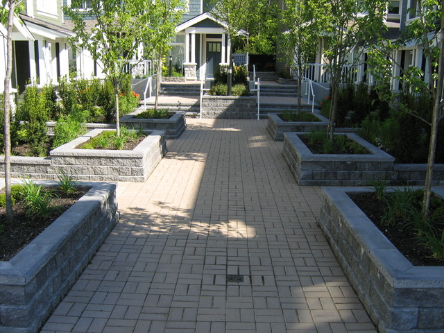 Townhouse landscaping - one small corridor within a 4 acre site in Vancouver contemporary-landscape